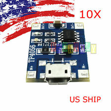 10PCS TP4056 5V Micro USB Lithium Battery Charging Board Charger Module Arduino
