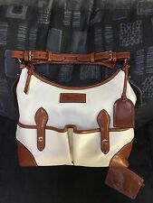 Dooney & Bourke Large Florentine Vachetta Leather Pocket Hobo Brown Pouch Bag