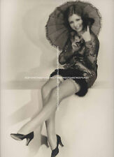 BEAUTIFUL ACTRESS THELMA CLARK CUTE AND LEGGY IN NYLONS, RARE 1931 PHOTO A-TC