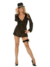 Elegant Moments Women's Sexy Gold Digger Gangster Girl Adult Costume Medium 6-10