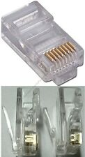50SOLID+50STRANDED wire RJ45Crimp cable End modular connector for Cat5e Ethernet