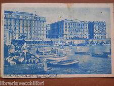 VIA PARTENOPE GRANDI ALBERGHI 1936 foto Vecchia fotografia di Napoli cartolina