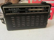 "SOVIET VINTAGE RADIO FIRST ""SOKOL"" 1963 year! GOOD CONDITION! + PASSPORT"
