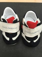 Dolce And Gabbana Baby Newborn Pram Shoes D&G RRP £135 Pre-walker