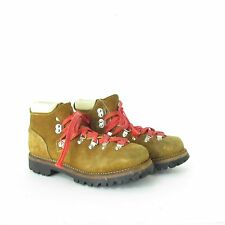 1970's Womens Vintage Montblanc Mountaineering / Hiking Brown Boots Size 7 1/2