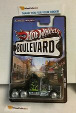 Long Gone BLACK w/ flames * Hot Wheels Boulevard Series w/ Real Riders * A2