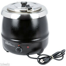 New Avantco S30 11 Qt. Black Countertop Soup Kettle Warmer - 120V, 400W + Rebate