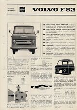 Volvo F82 Truck Specification 1966 UK Market Foldout Brochure 82-30 82-34