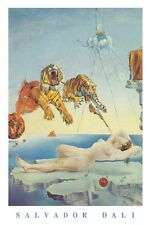 Dream Caused by a bee Flight poster! Salvador Dali Tiger Surrealist Spain New