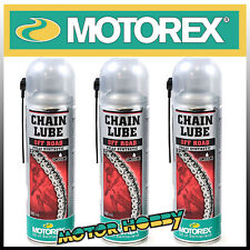 N.3  LUBRIFICANTE PER CATENE O-RING X-RING Z-RING MOTOREX CHAIN LUBE OFF ROAD