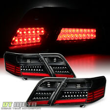 [4PC] Black 2007 2008 2009 Toyota Camry LED Tail Lights Rear Brake Signal Lamps