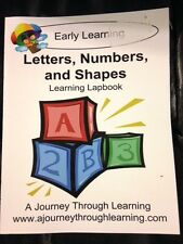 Letters, Numbers, and Shapes Learning Lapbook -  A Journey Through Learning