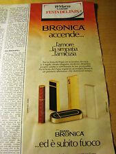 PUBBLICITA' ADVERTISING WERBUNG 1980 ACCENDINI BRONICA (G11)
