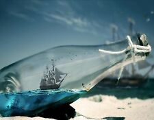 OCEAN IN A BOTTLE SAILING SHIP  MOUSE PAD  IMAGE FABRIC TOP RUBBER BACKED