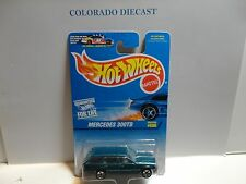 Hot Wheels #606 Green Mercedes 300TD Wagon w/5 Spoke Wheels Non Mint Card
