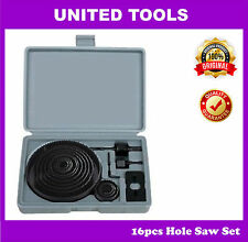 16pcs Carbon Steel Hole Saw Cutting Set for Wood, Sheet, Metal
