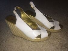 Women's Charlotte Russe White Wedge High Heels Size 8! Good Condition!