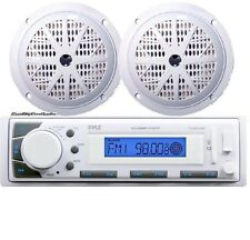 "NEW Pyle Marine Stereo AM/FM Receiver USB/SD iPod Input +2 x 100W 5.25"" Speakers"