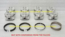 Chevy 5.0/5.0L/305 Sealed Power Cast Flat Top Pistons+Cast Rings Set/Kit +.040""