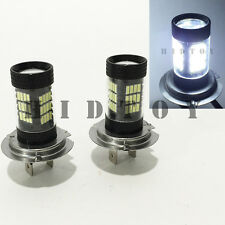 H7 Samsung LED 57-SMD Canbus Bright White 6000K Headlight 2 x Bulb #Gd1 Low Beam