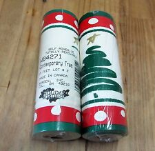 New 2 Rolls Christmas Holiday Wallpaper Borders Self Stick Contemporary Tree