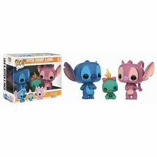 "EXCLUSIVE STITCH, SCRUMP & ANGEL 3 PACK 3.75"" VINYL POP FIGURE FUNKO DISNEY"