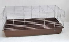 Rabbit hutch Guinea pig cage Rodent home 39 2/5in brown