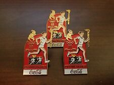 (3) OLYMPIC torch relay Coca-Cola Atlanta 1996 PIN