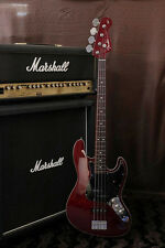 Fender Japan Aerodyne Jazz Bass AJB /Old Candy Red Binding body/Matching head
