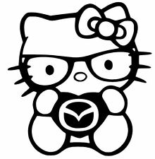 HELLO KITTY Truck Car Vinyl Decal Window Sticker for MAZDA ZOOM ZOOM