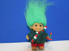 """TINY CHRISTMAS CAROLER ORNAMENT -  3"""" Russ Troll Doll - NEW IN WRAPPER"""