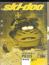 2000 SKI-DOO MX Z X SNOWMOBILE PARTS MANUAL