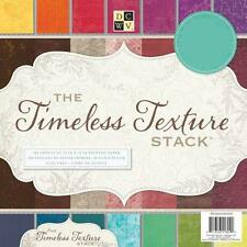 DCWV 12x12 Paper TIMELESS TEXTURE STACK 60 Colour Sheet SAMPLE / TASTER Pack