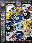 6 Pack of Officially Licensed NFL Helmet Stickers - Pick Your Favorite Team!