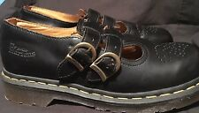 DR. MARTENS 8065 Double Buckle Black Mary Janes US 7 New without Box