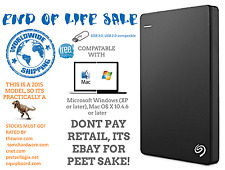 "Seagate Backup Plus Slim 2TB Portable Hard Drive 2.5"" -Portable Black COLOUR HDD"