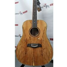 Oscar Schmidt OD312SM Spalted Maple Top 12-String Dreadnought Acoustic Guitar