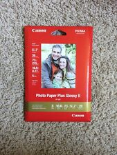 "Canon PIXMA Photo Paper Plus Glossy II PP-201 5""x7"" 20 Sheets"