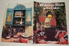 Welcome Back to the Cabin North Woods Craft painting book Bear Moose Fish Deer