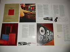 JBL Brochure  L100 Speaker 4311/4310 1975 Reprint, 8 page, Articles, Specs