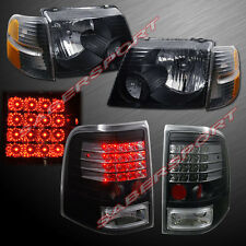 2002-2005 FORD EXPLORER 4DR BLACK HEADLIGHTS + CORNER LIGHTS + LED TAIL LIGHTS