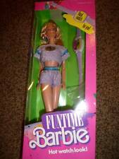 Vintage Barbie Funtime Watch 3718 Blonde NRFB 1986 Lilac Purple Outfit Fashion