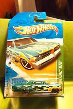 Hot Wheels Treasure Hunt Candy Aqua Metallic Gold Custom 64 Pontiac GTO 2011 MC5