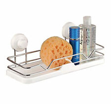 Chrome Caddy Storage Kitchen Bathroom Basket Organizer Strong Suction Cups UK