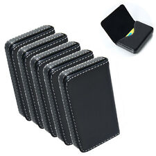 Lot 5 New Black Pocket PU Leather Business ID Credit Card Holder Case Wallet