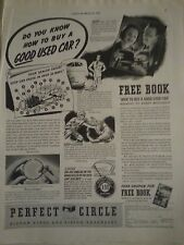 1938 Perfect Circle Piston Rings Expanders How To Buy A Good Used Car Ad
