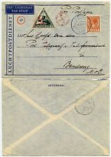 NETHERLANDS INDIES FLIGHT AIRMAIL ENVELOPE BORNE 1933 to BANDANG