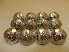 (#18) 12 The Royal Scots Pipers 19mm Military Uniform Buttons Vintage Unissued