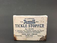 Vintage Country Store Prop Home Decor Rexall Tickle Stopper United Drug