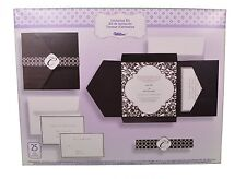 Set of 25 Wilton Wedding Black and White Vintage Pocket Invitation Kit New
